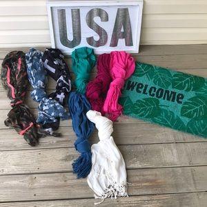 Bundle of 8 scarves
